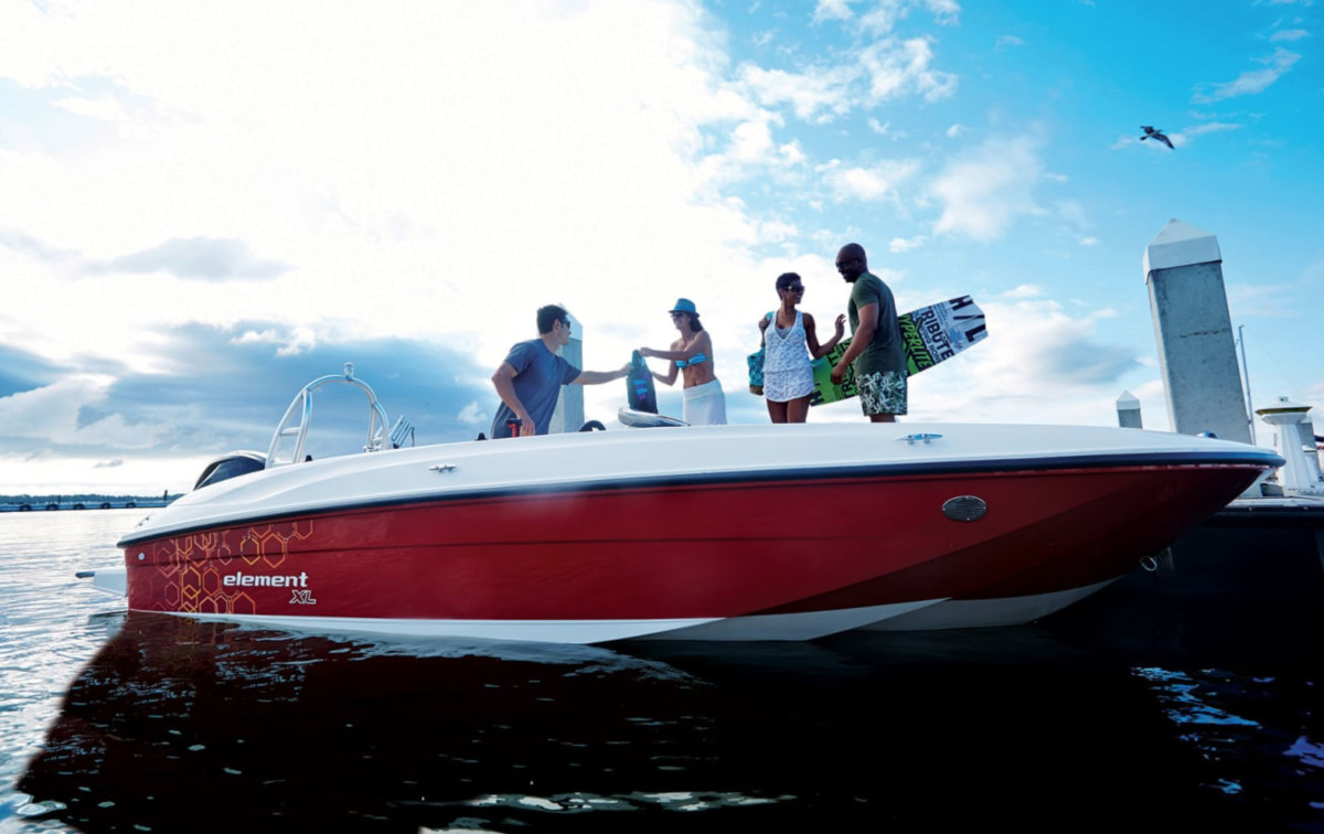 Entry-level boats, such as Bayliner's Element, have drawn new boaters during the pandemic.