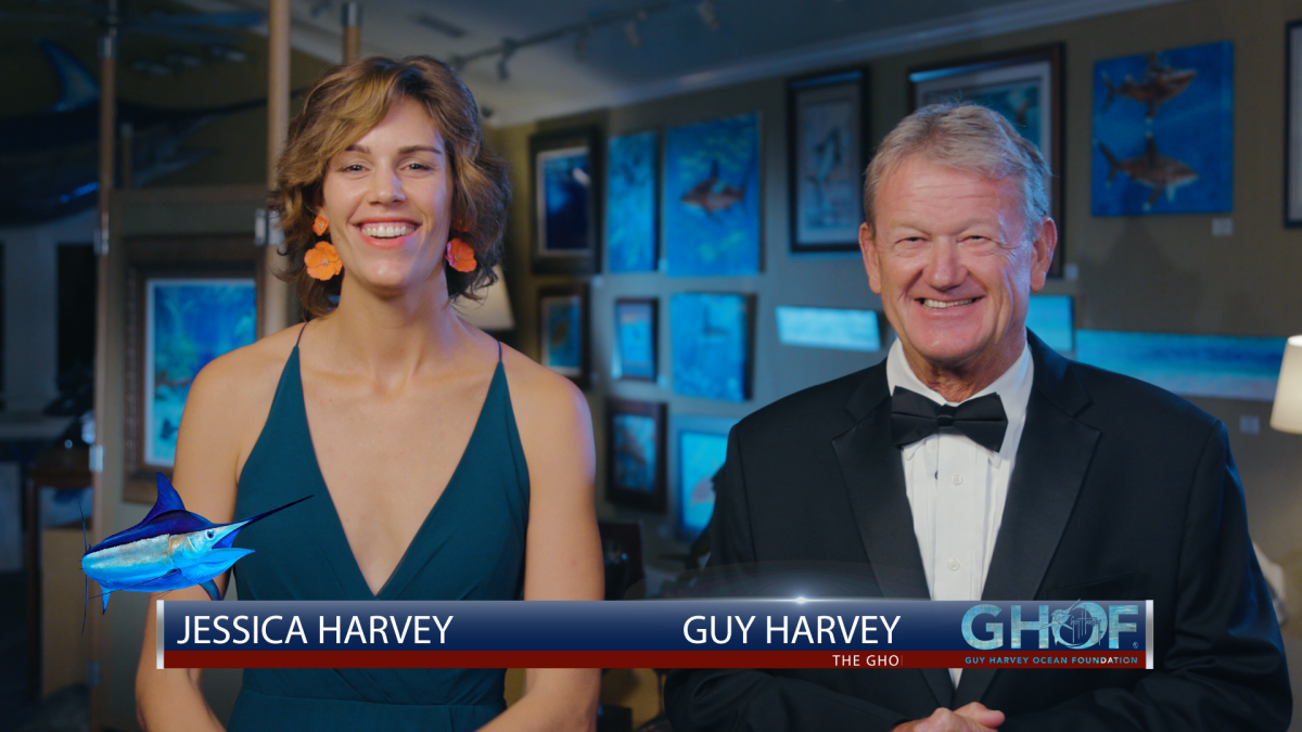 Guy Harvey and daughter Jessica Harvey.