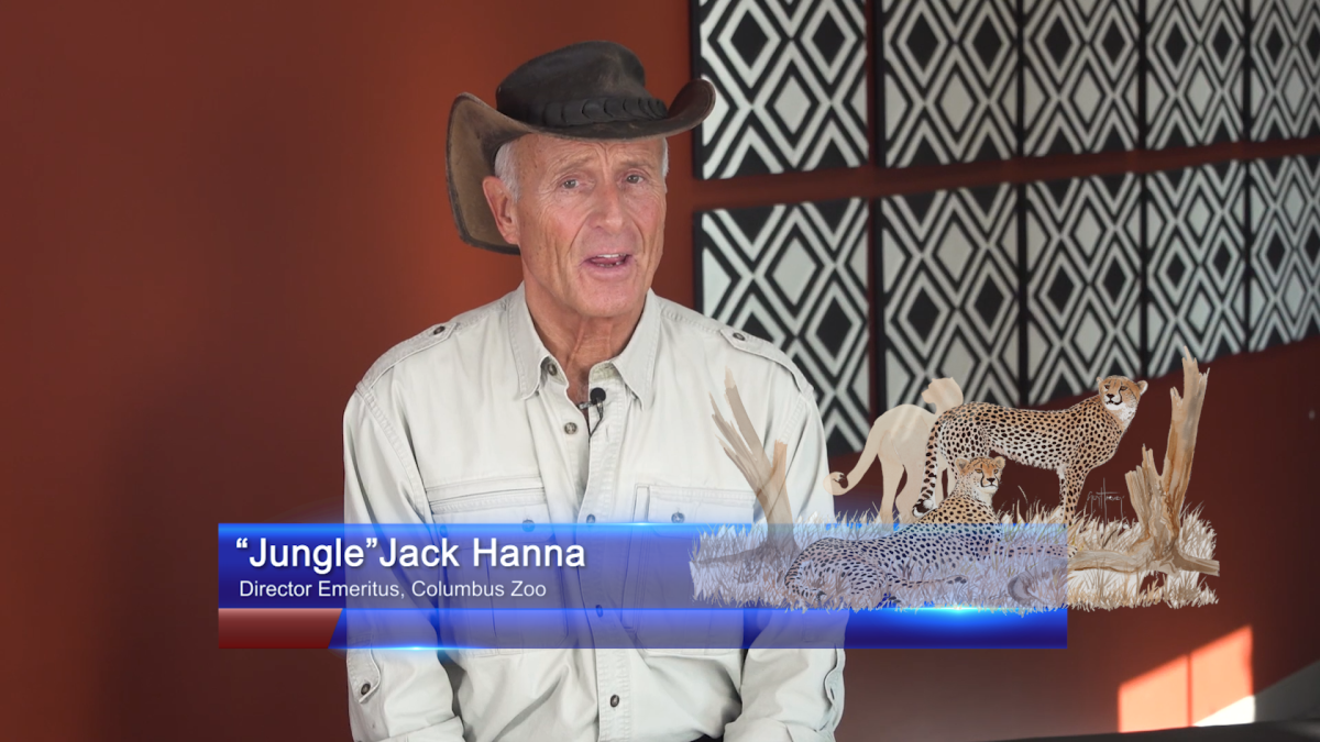 Jack Hanna, director emeritus of the Columbus Zoo, joined the event.