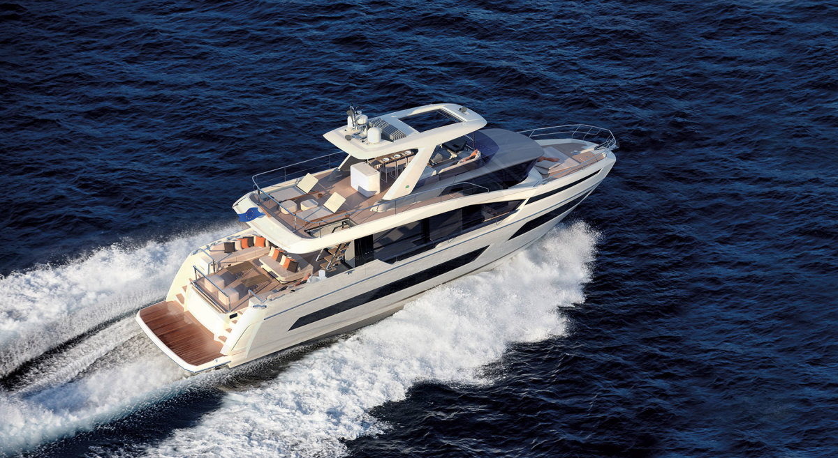 Groupe Beneteau's Prestige Yachts is one of many builders that see robust sales in the U.S. and will benefit from tariff reductions.