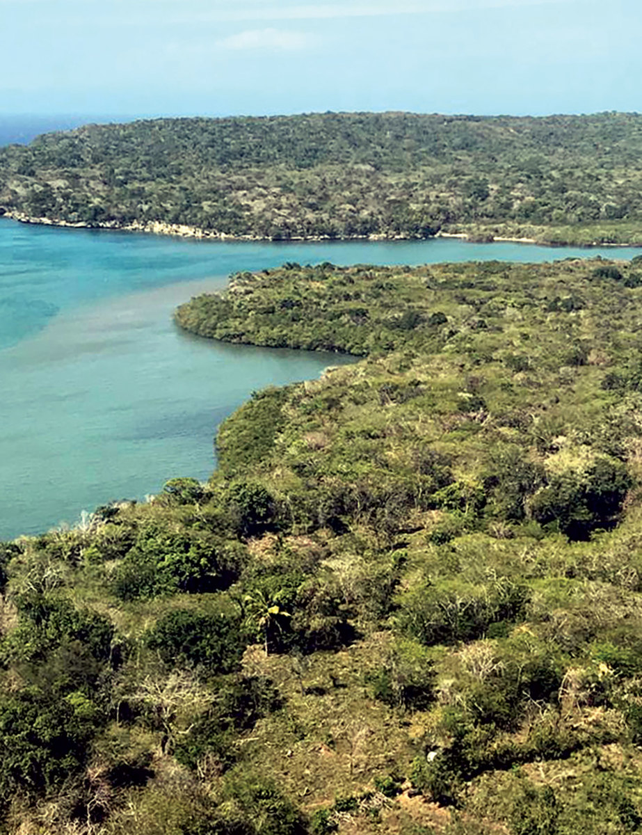 The proposed site of LimeStone Park,  on the opposite side of Luperon Bay.