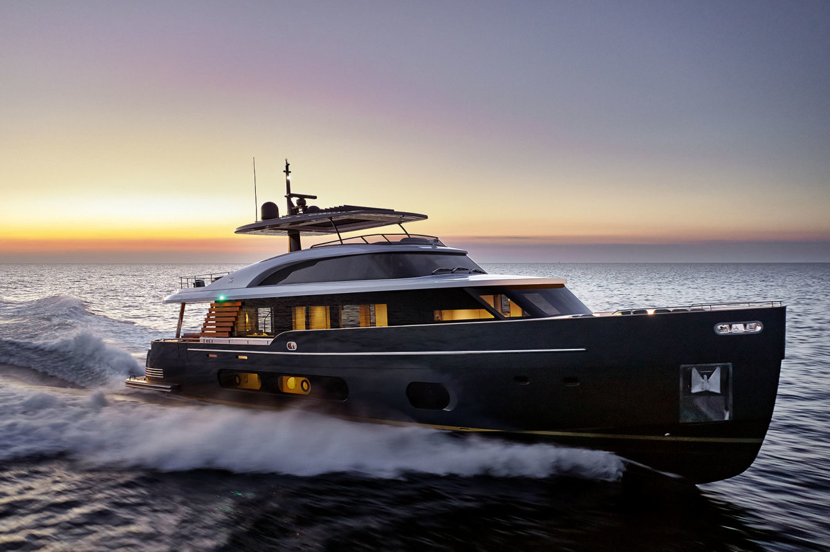 The Magellano 25 Metri debuted stateside at the 2020 Fort Lauderdale International Boat Show. A 30 Metri is up next.