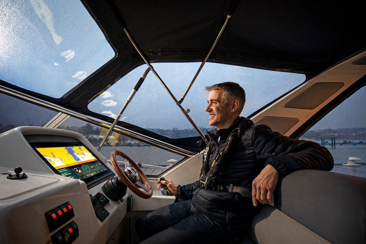 Volvo Penta electronics project manager Anders Thorin was on hand for many of the testing runs.