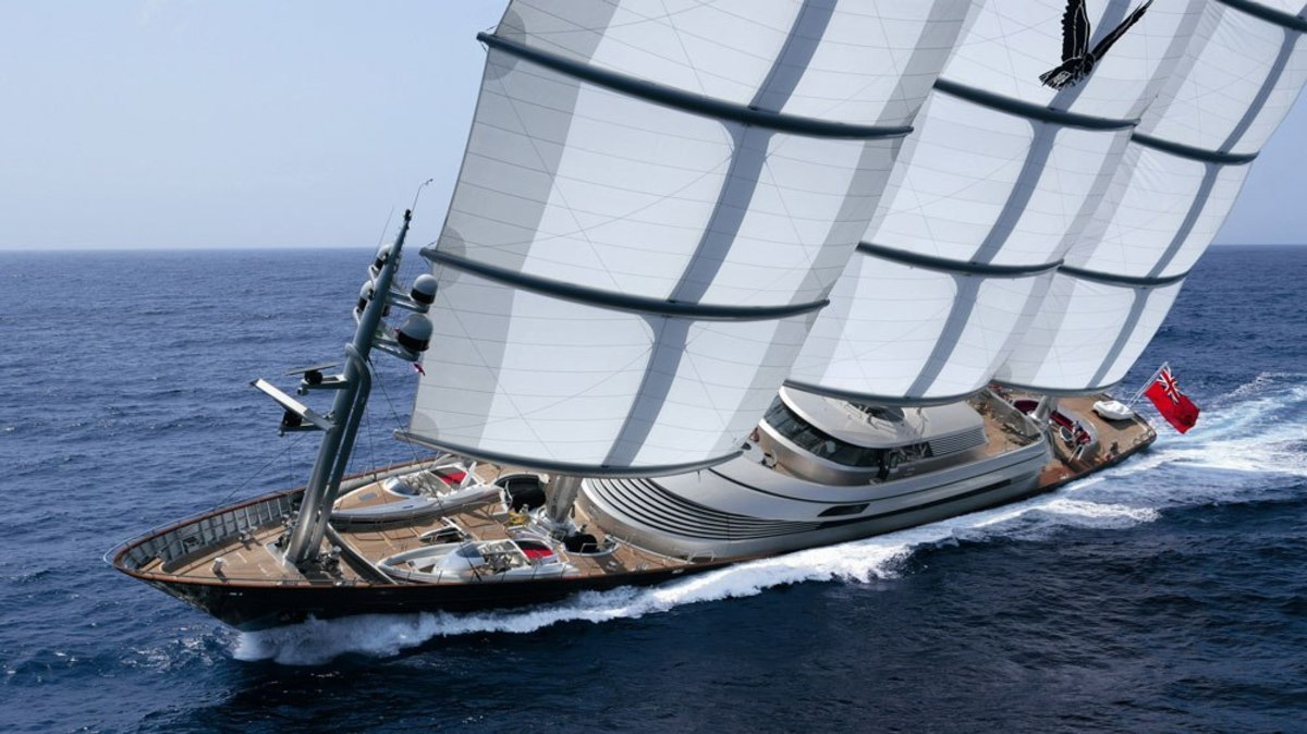Perini Navi built the 289-foot Maltese Falcon at its Istanbul yard.