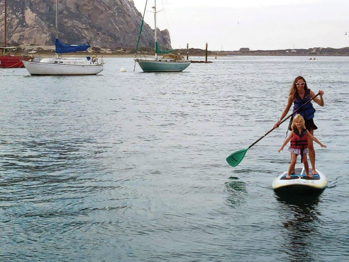 Norton says she is not a boater but loves standup paddleboarding and being on the water.