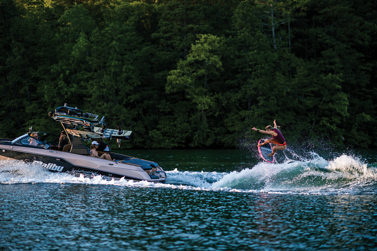Taco Metals' wake sports rack systems are popular with a number of builders, including Malibu Boats.