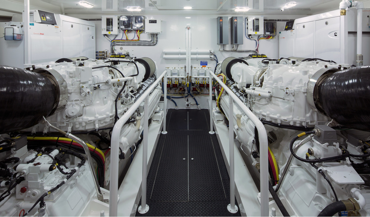 SCRs installed above the Viking 92's engines would significantly reduce serviceability.