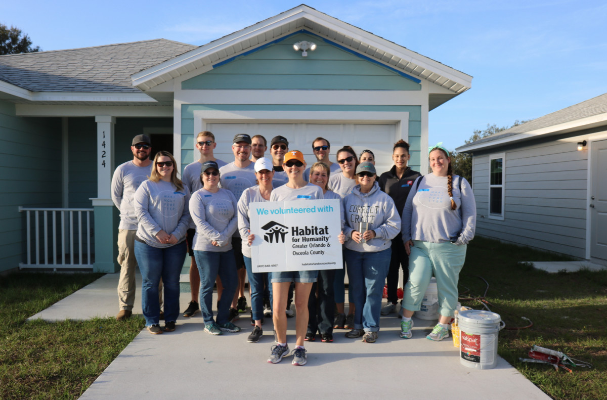 Correct Craft employees recently built a home through Habitat for Humanity.