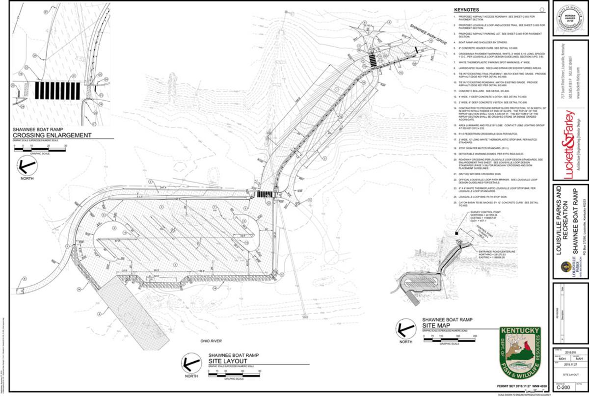 The ramp will be located below McAlpine Locks and Dam.