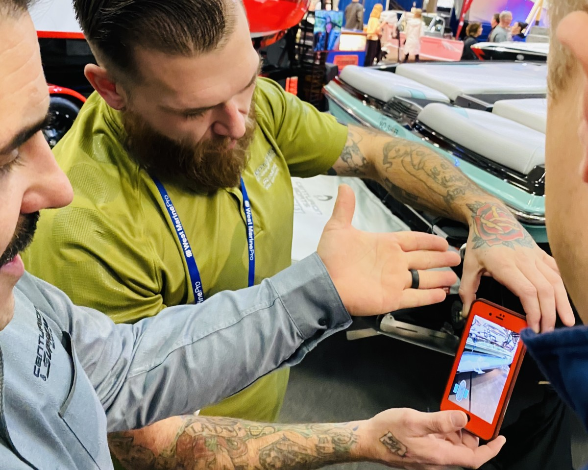 Lynnwood Motoplex showcased Centurion's new augmented reality app at the Seattle Boat Show last weekend.