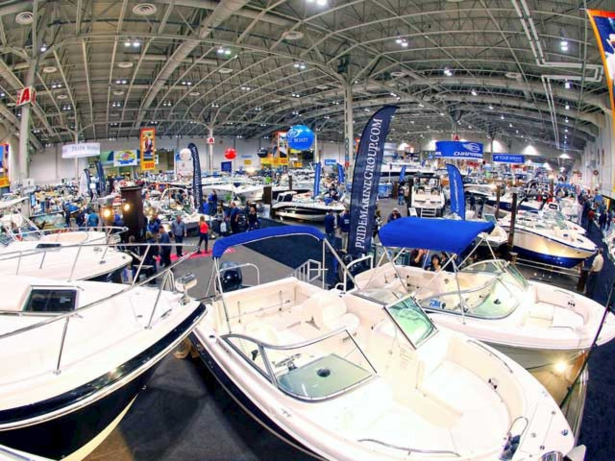 Toronto show. Sales of fiberglass boats were up at the Toronto show.