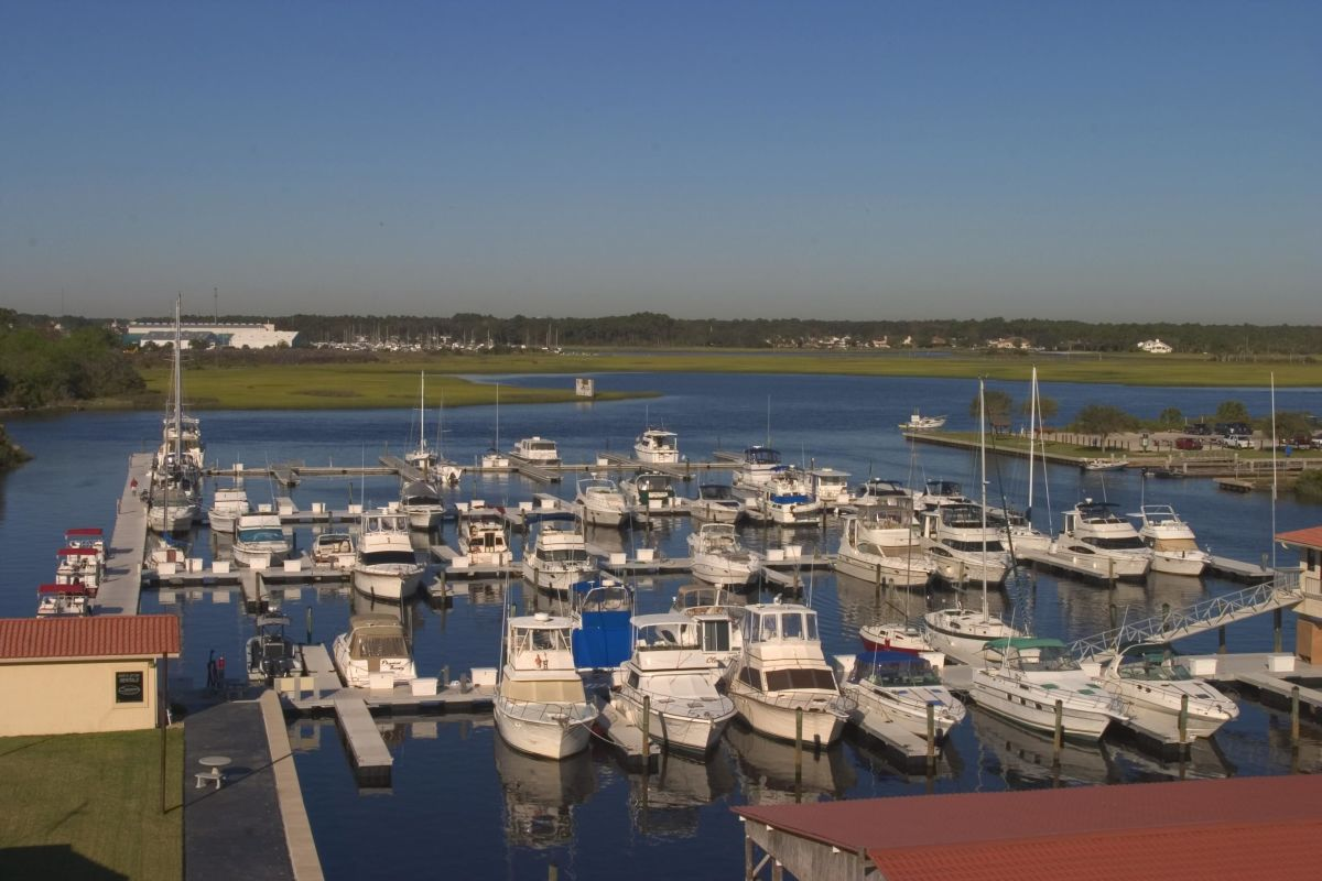 Beach Marine has 350 wet slips, plus dry storage and the Mavi Waterfront Bar & Grill.