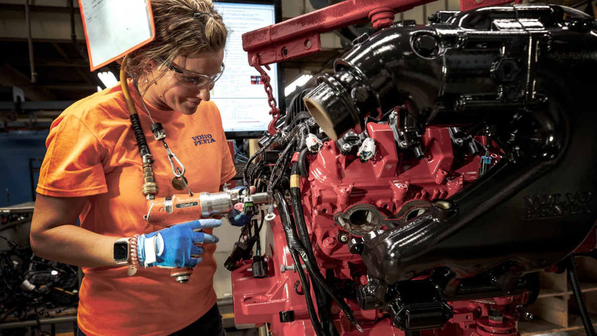 Volvo Penta's 210,000-square-foot facility in Lexington houses production of all the company's gasoline engines and drives for worldwide distribution.