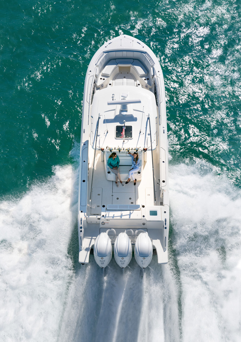 The Pursuit S378 is one of many boats powered by the XTO Offshore.