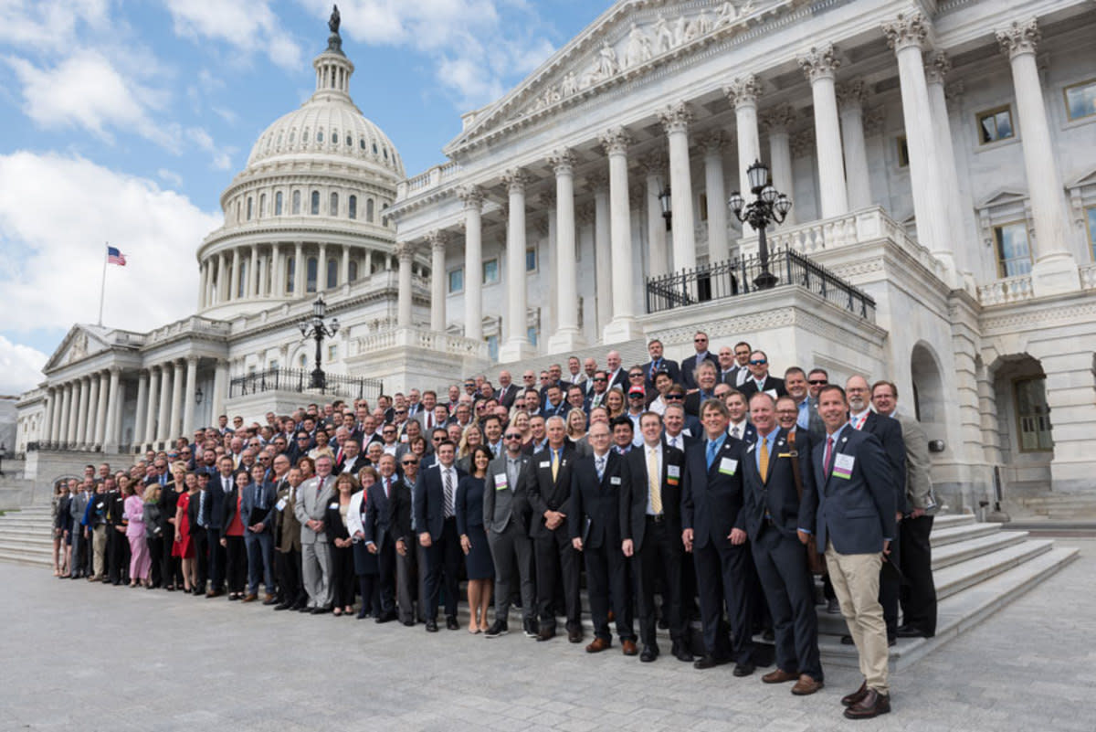 ABC attendees on Capitol Hill in 2019.