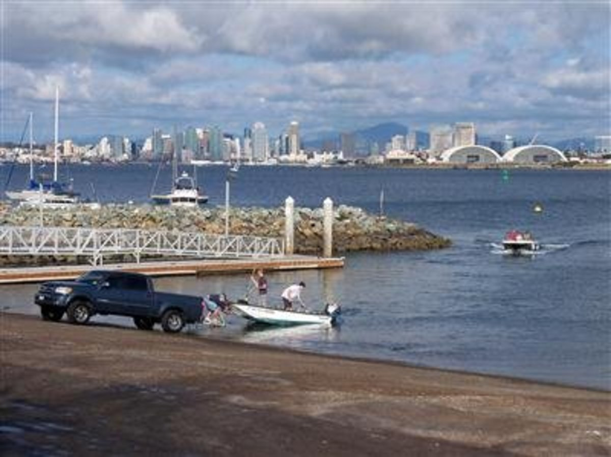 The San Diego area is popular among boaters.