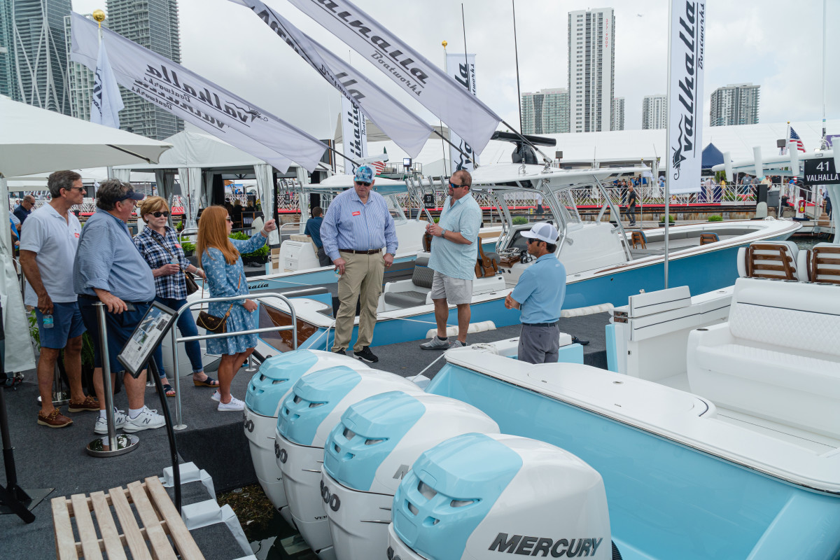 The builder reported solid crowds at the Miami Yacht Show.