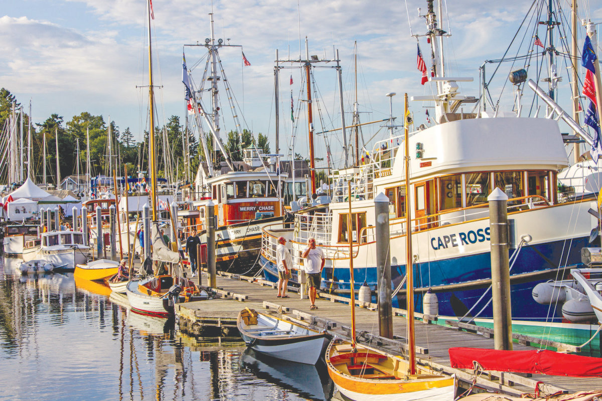 Point Hudson is the home to an annual wooden boat festival. Photo courtesy of Port Townsend Leader.
