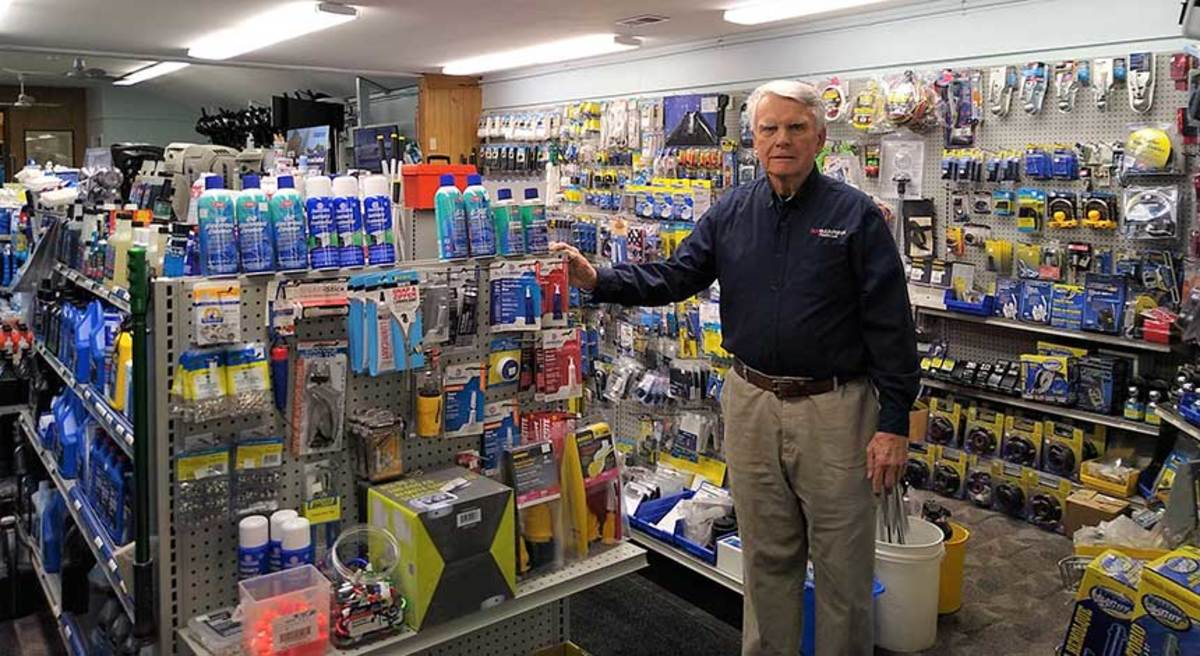 Ed Lofgren, president of 3A Marine, knows the value of stocking the right accessories.