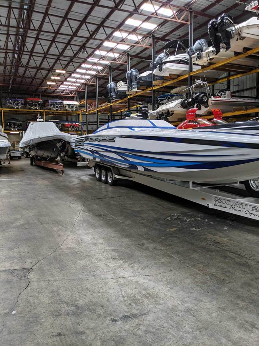 Repowers and boat storage are key profit centers for TNT Custom Marine and sister business TNT Marine Center.