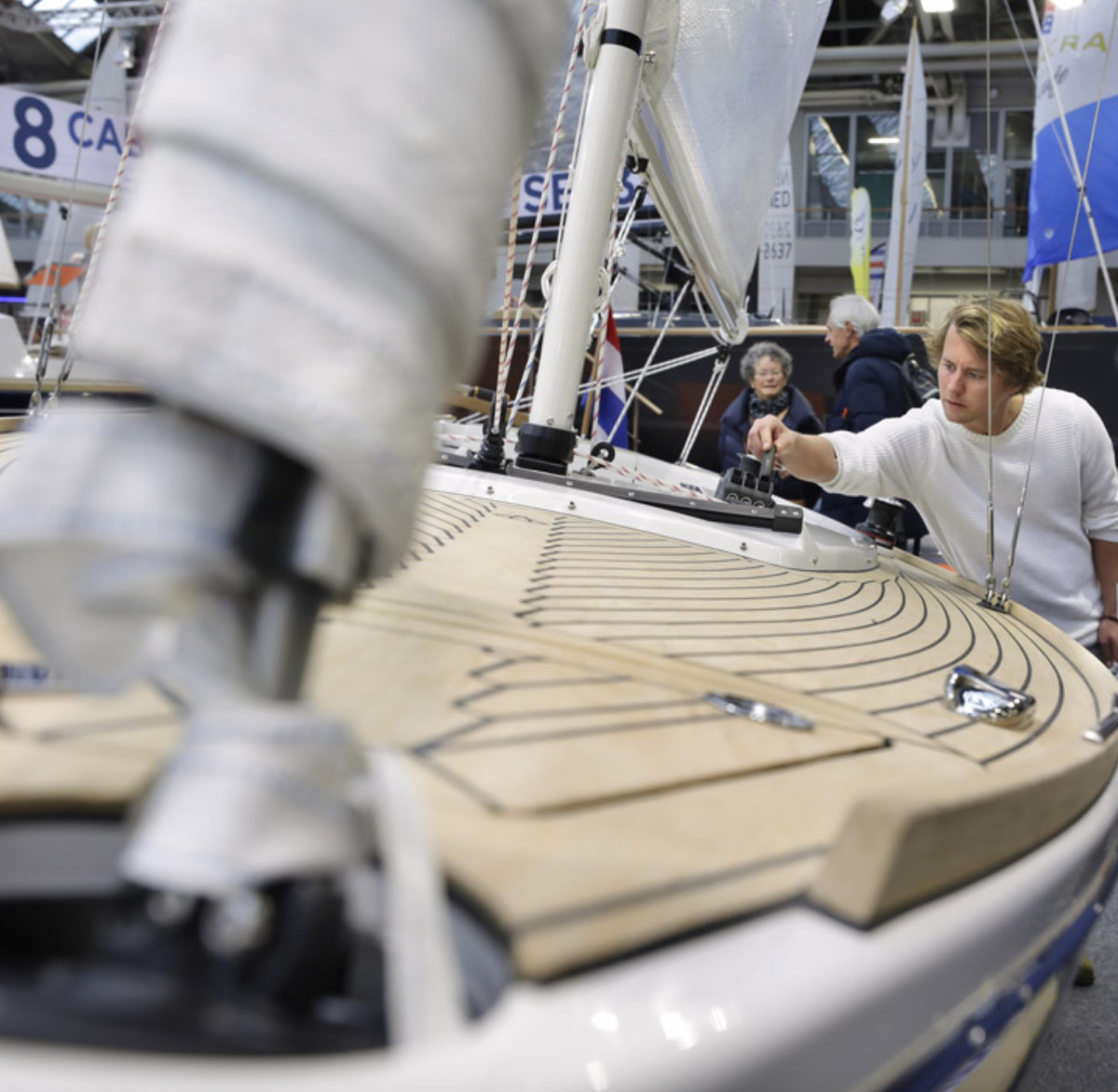 The HISWA Amsterdam Boat Show, which kicked off Wednesday and was slated to take place until Sunday at RAI Amsterdam, was cancelled early. Photo from HISWA website.
