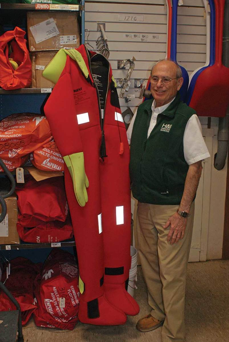 Hamilton has been stocking survivalsuits long before they were required aboard commercial vessels.