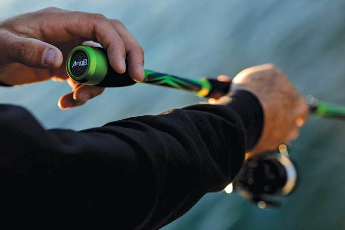 Anglr, Lowrance and Abu Garcia unveiled a virtual fishing rod at the Bassmaster Classic.