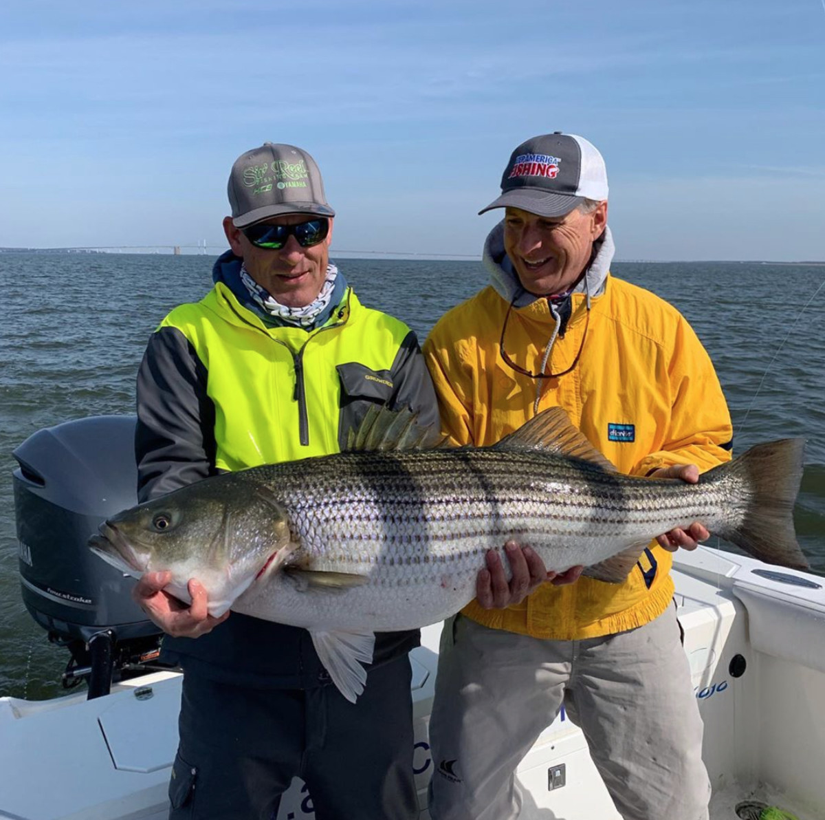 ASA president Glenn Hughes posted a picture on Instagram of himself holding a striped bass during the coronavirus quarantine.