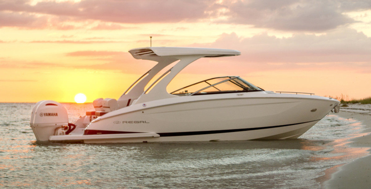 Regal Boats CEO Duane Kuck said closing a plant in Valdosta, Ga., was a difficult decision. All of the models, including this 29 OBX, will be built in its Florida facility starting this summer.