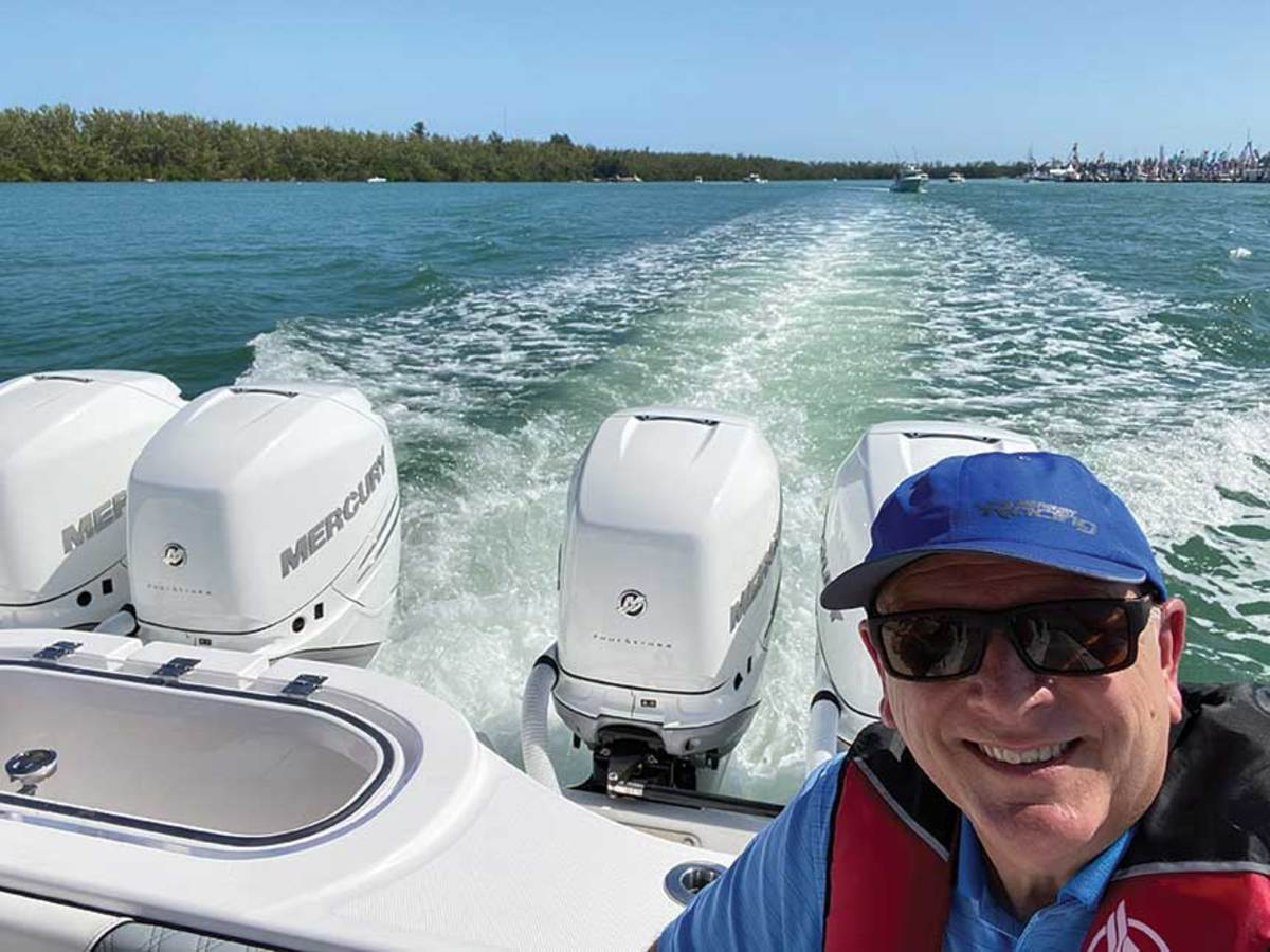 Reid joined Brunswick in time for this year's Miami boat show, where he was able to spend some time on the water.