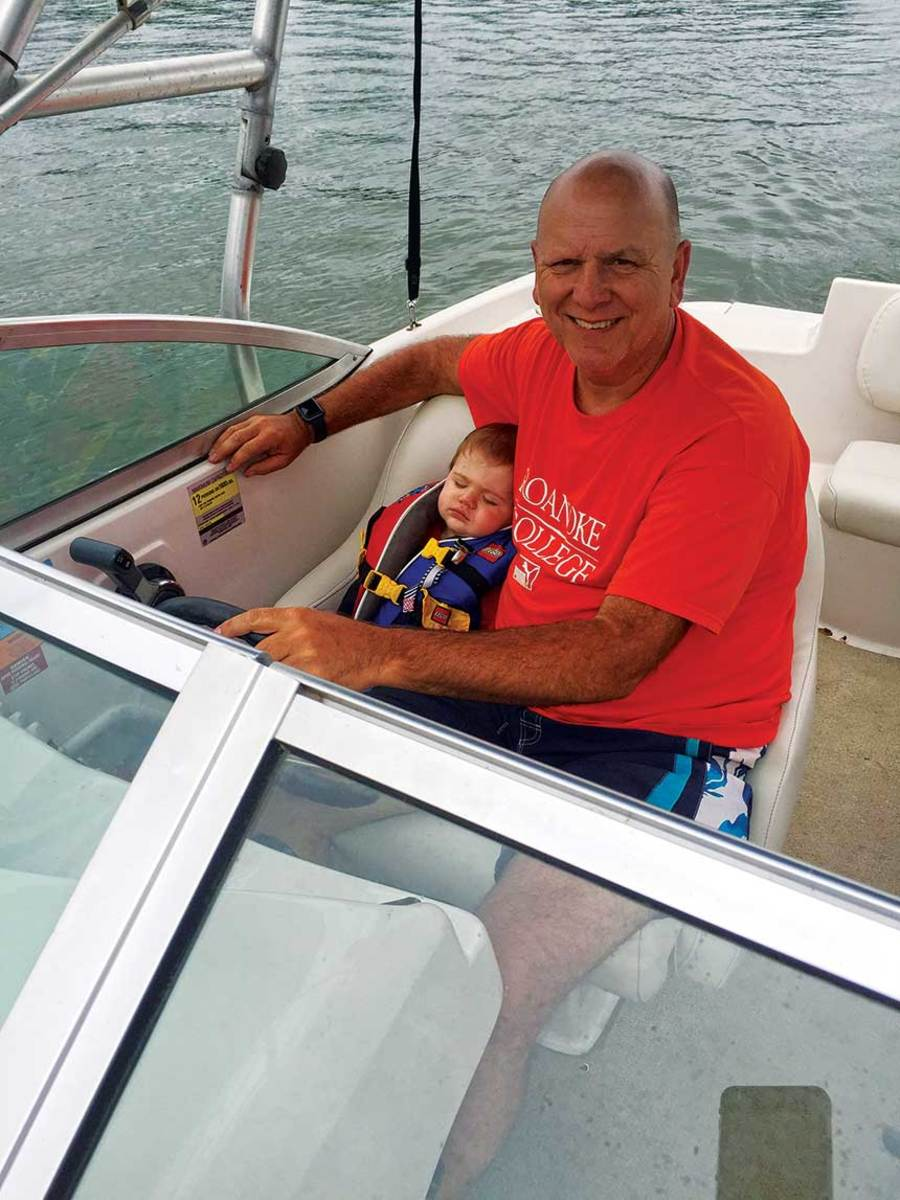 Reid is a longtime boater and relishes passing that passion to his grandchildren.