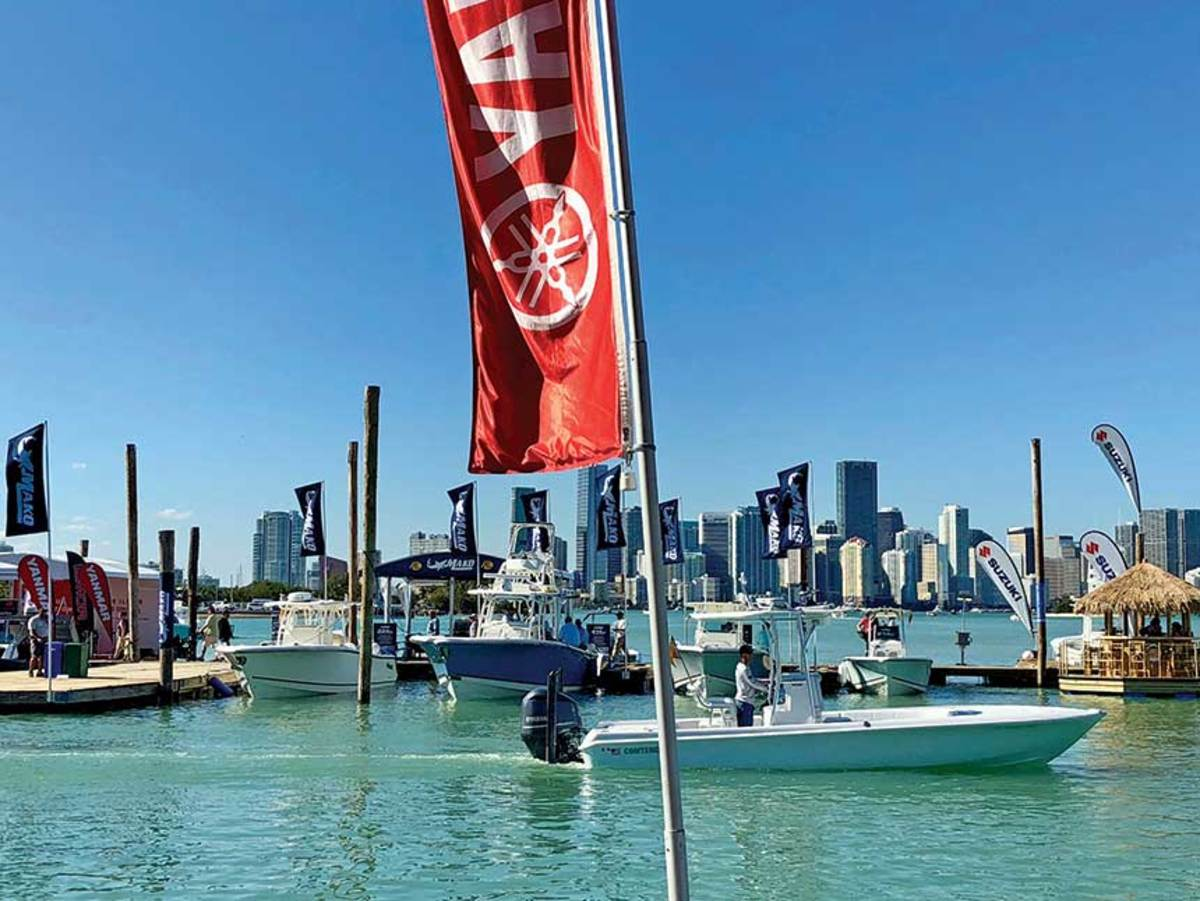 Many companies had been in full production after the Miami boat show, which was widely deemed a success.
