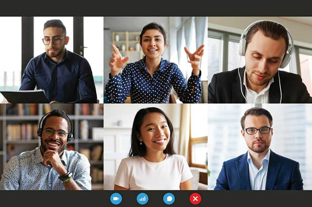 Brady Bunch-style screens instantly became a hallmark of remote working as companies convened online via video.