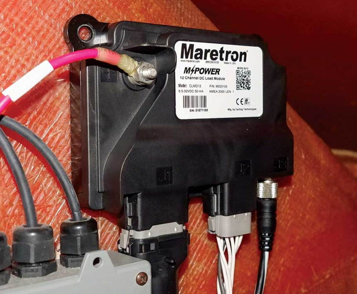 The Maretron MPower module replaces standard mechanical circuit breakers and switches for digital power distribution.