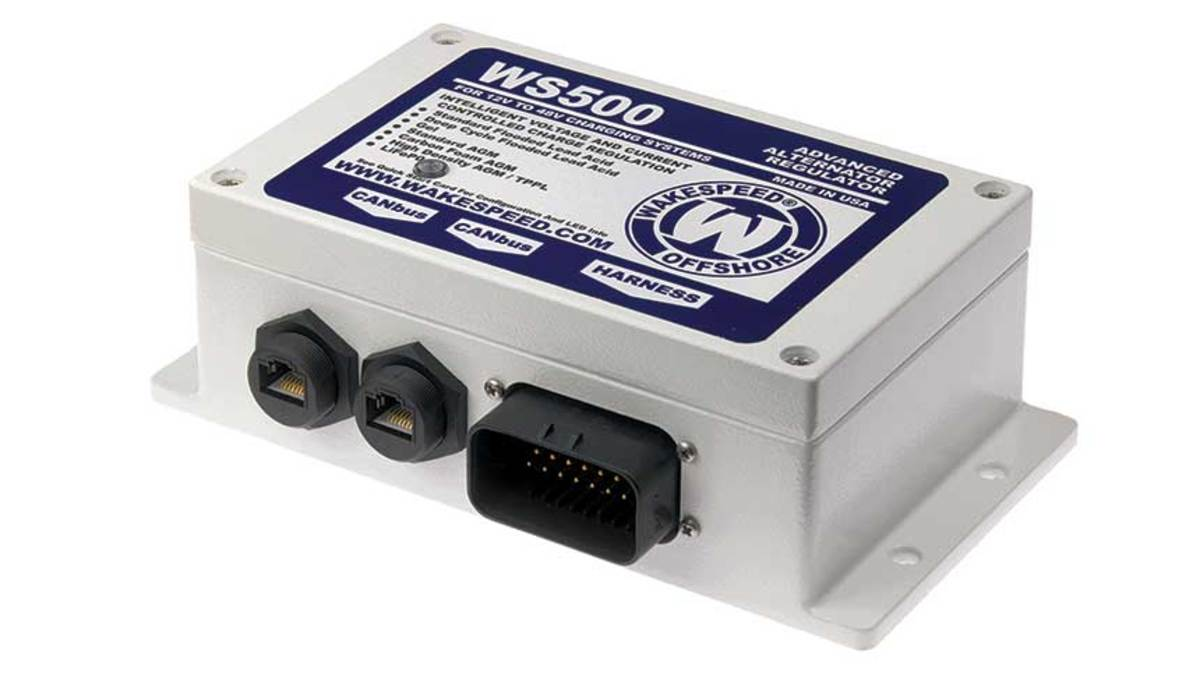 Wakespeed Offshore's WS500 alternator-regulator seamlessly communicates with multiple on-board systems.