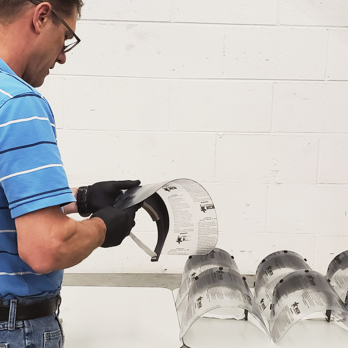 Volvo Penta's North American headquarters in Virginia are manufacturing face shields.