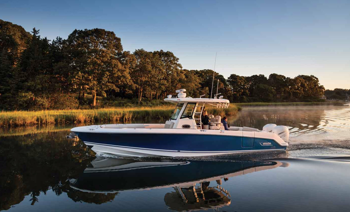 Brunswick's boat group, which includes Boston Whaler, reported a 22 percent drop in net sales in the first quarter.