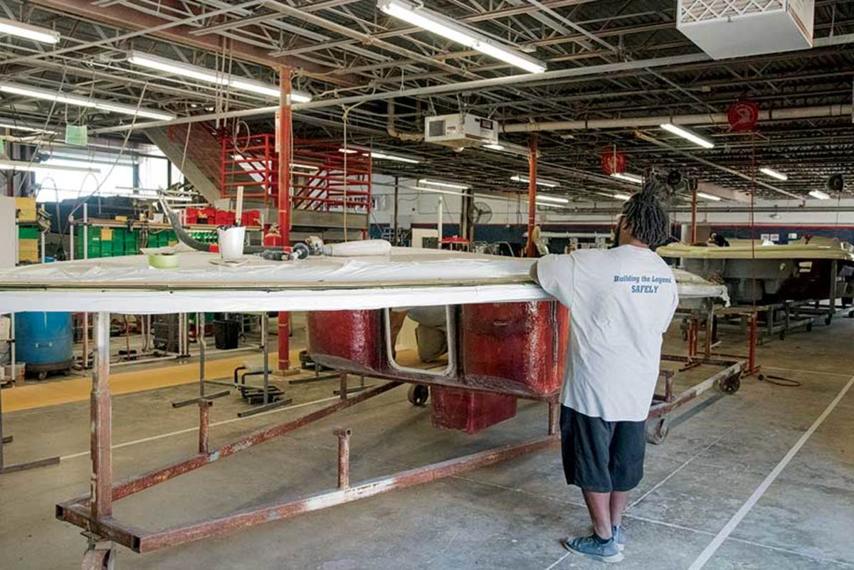 In late March, Chris-Craft parent Winnebago Industries suspended production across all of its brands.Operations resumed April 13.