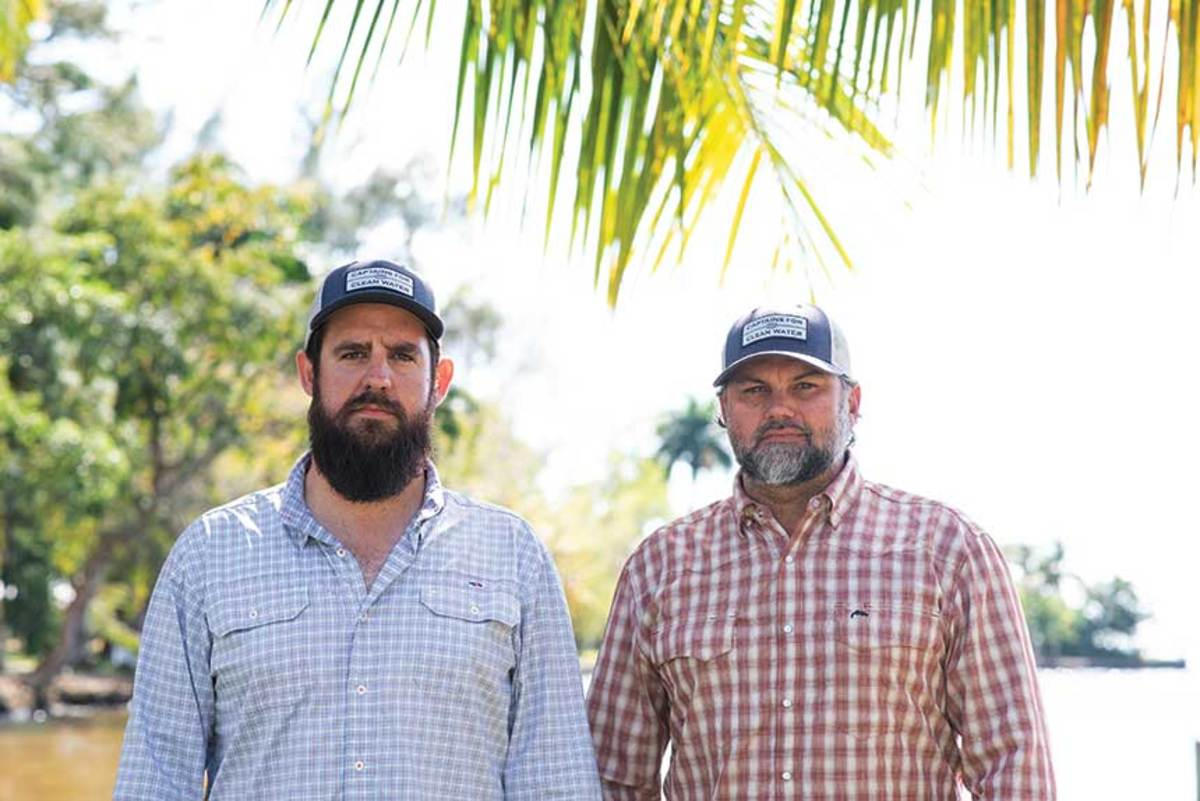 Capts. Daniel Andrews (left) and Chris Wittman co-founded CFCW to draw attention to Florida's water problems.