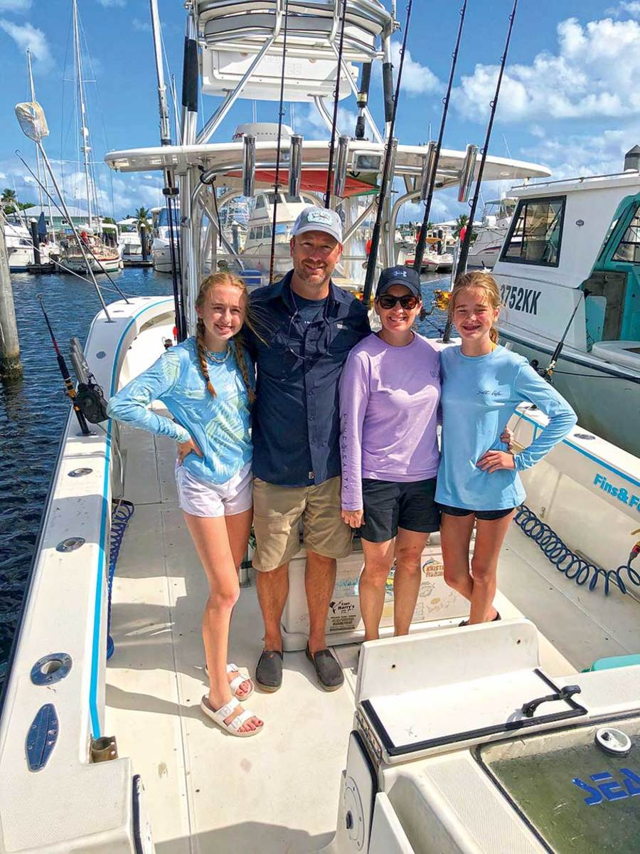 "Gruhn describes fishing with his family as a ""perfect day on the water."""