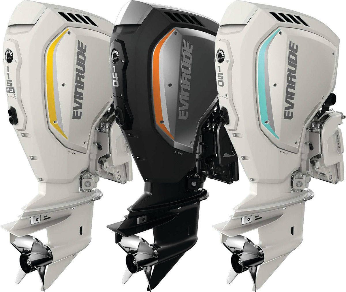 Some color options from the 2020, and final, Evinrude model line.