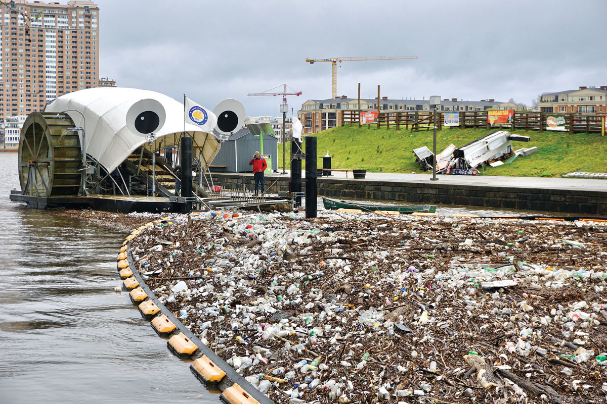 Baltimore's Mr. Trash Wheel is part of a family of machines that rid the city's harbor of trash.