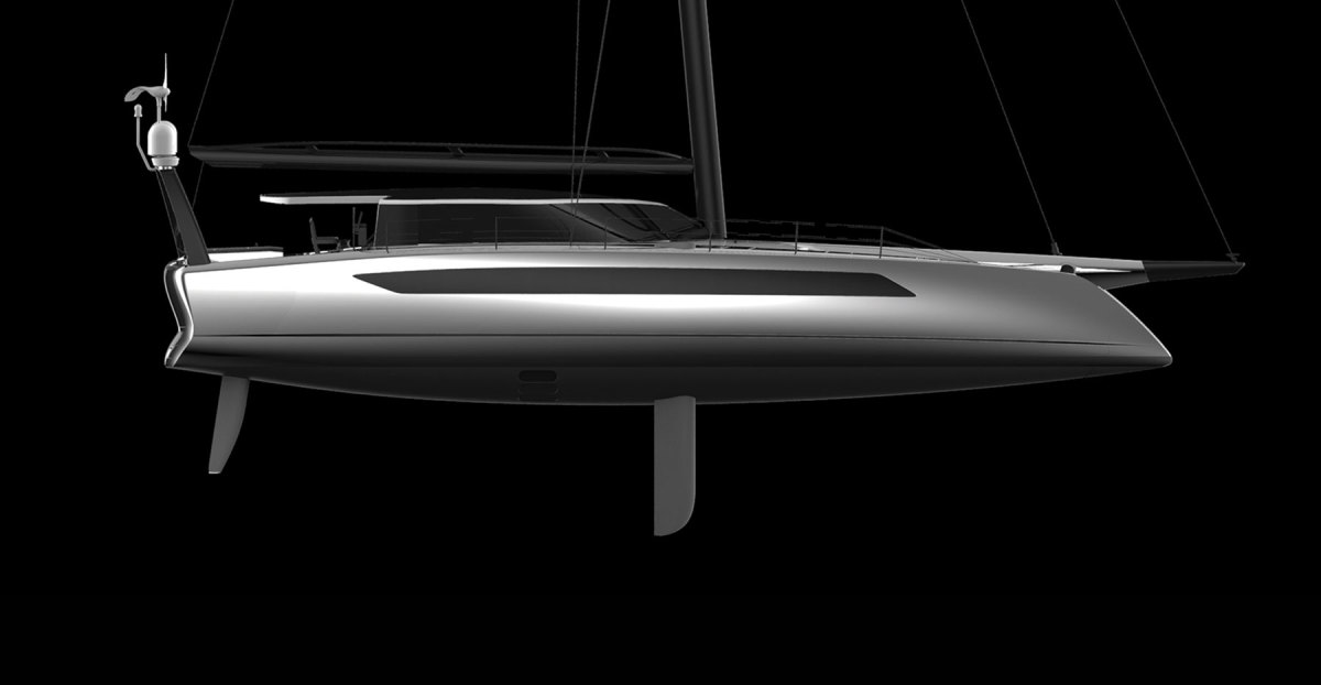 An 80-foot concept from Daedalus Yachts utilizes three zero-emission energy sources.