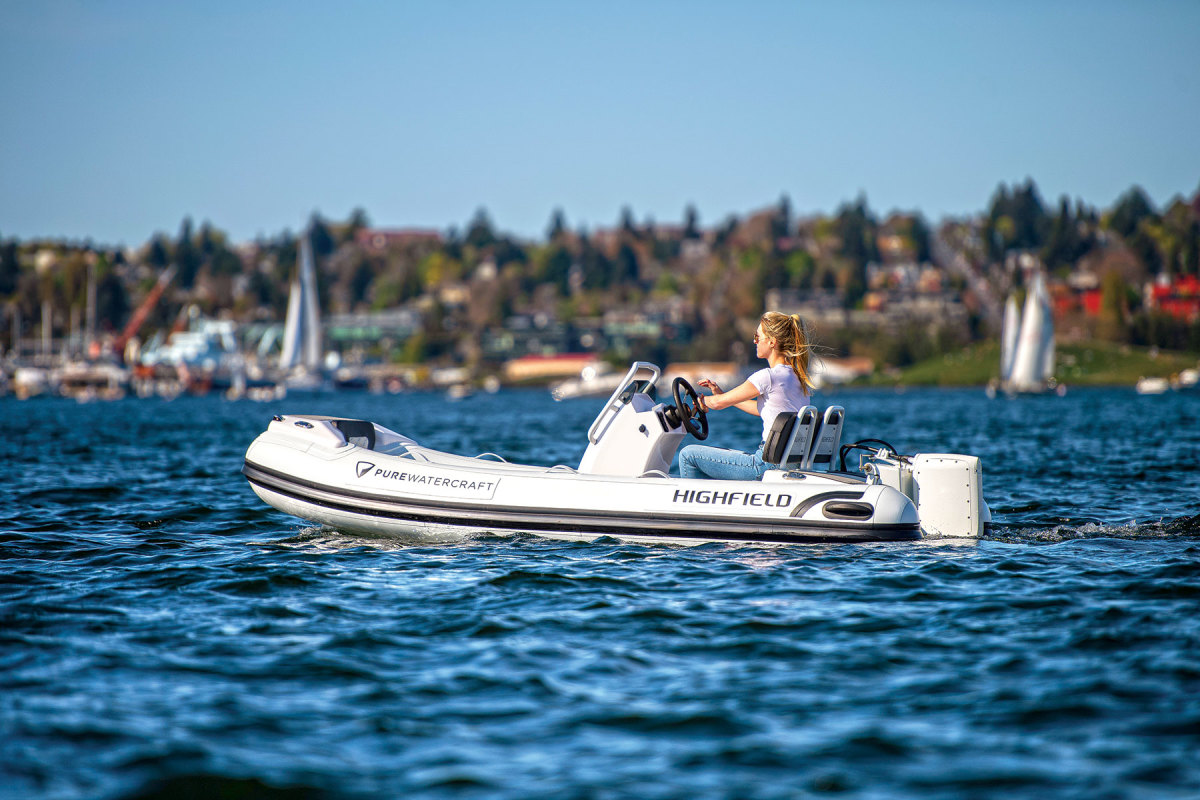 Highfield Boats teamed with Pure Watercraft for a line of electric RIBs.