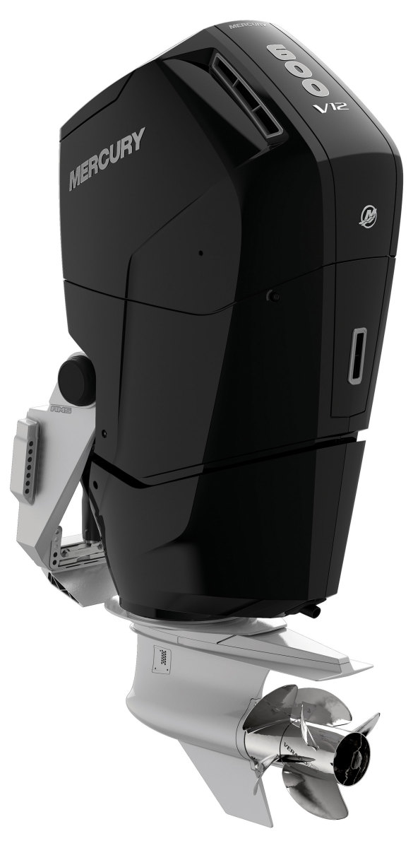 The 600-hp Mercury Verados are the most powerful outboards in the industry.