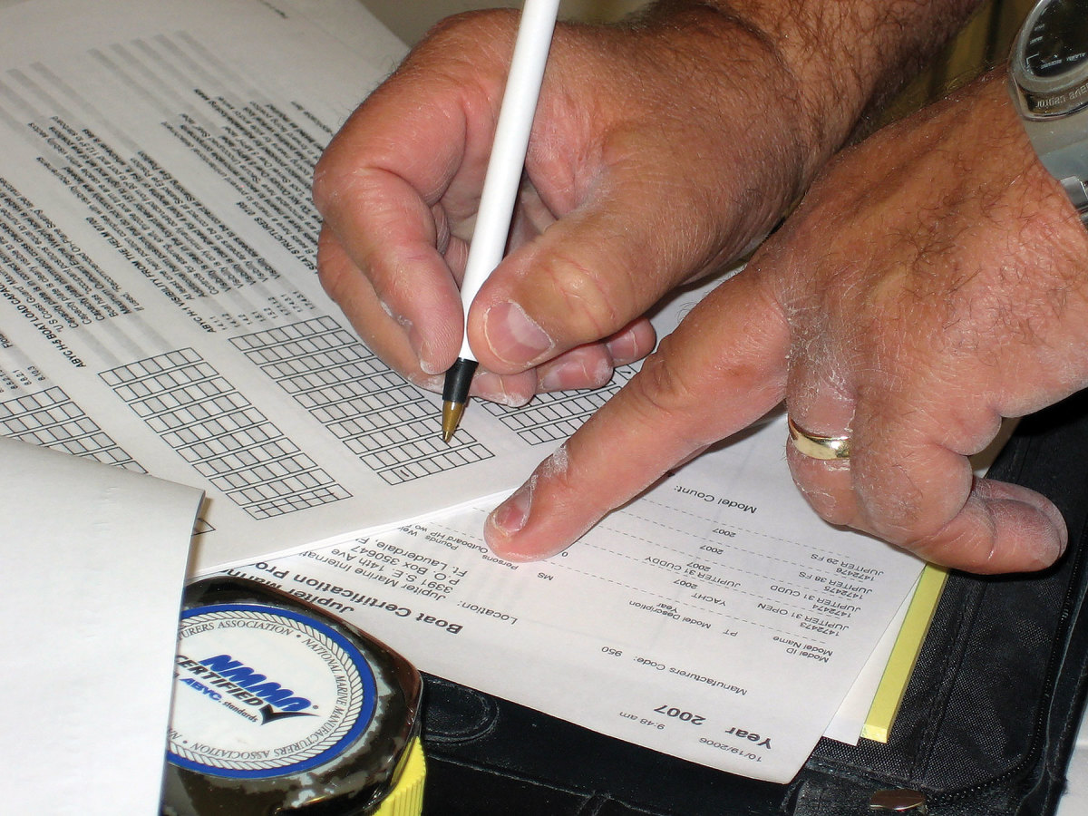 Successful marine certification means having a list of ABYC standards and checking off items as requirements are met.