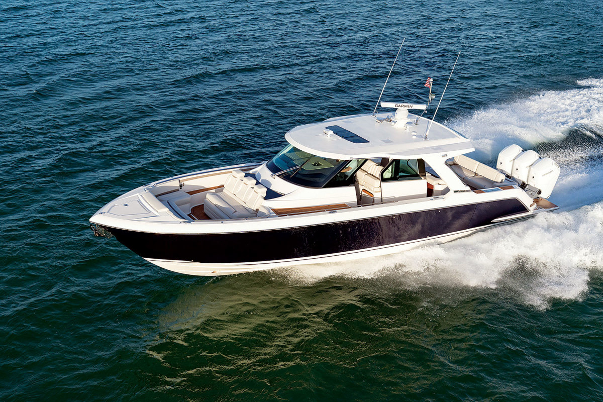 Known for inboard boats, Tiara began adding outboard-powered models in the late 2010s.