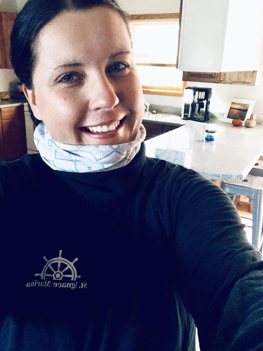 Lauren Yoder is a harbormaster in Saint Ignatius, Mich.