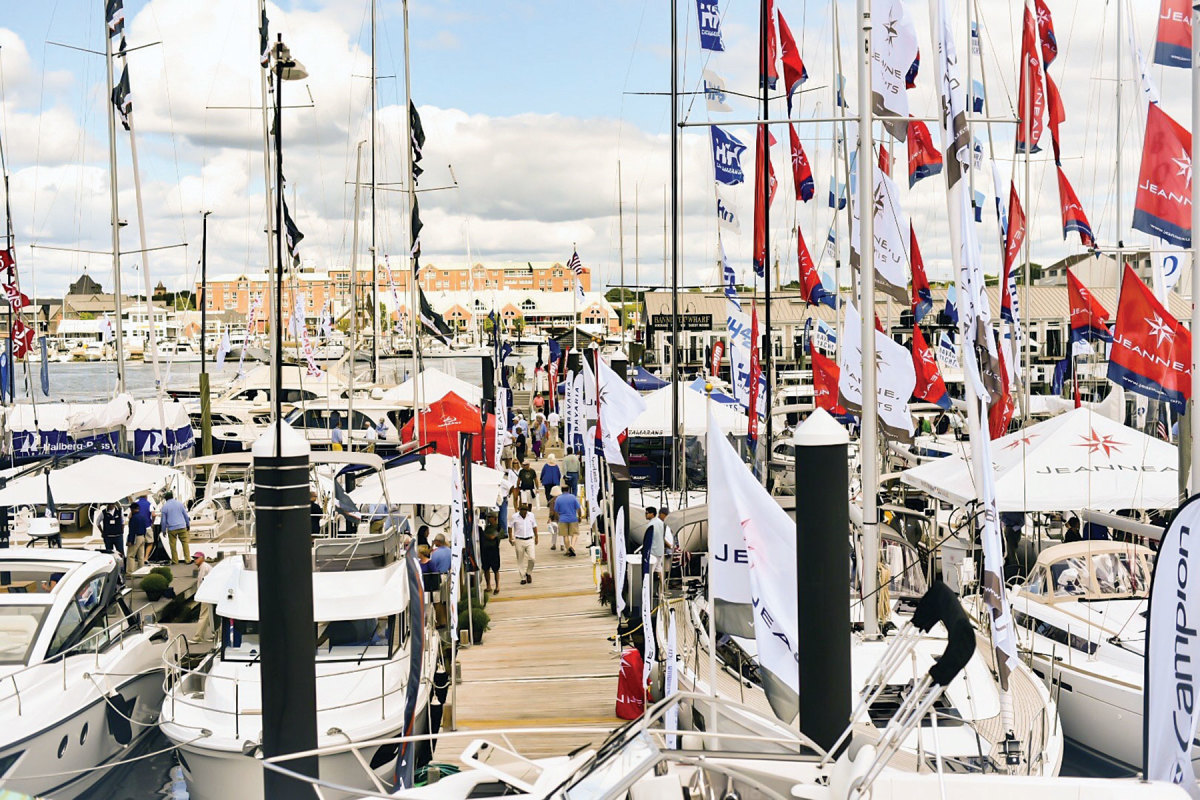 The docks will bustle again this year at the Newport International Boat Show in September.