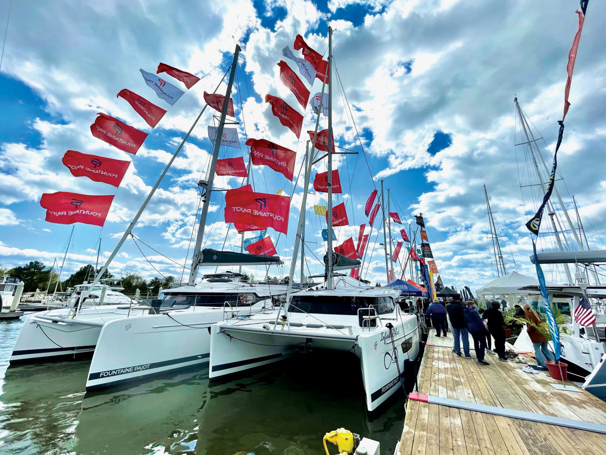 The Bay Bridge Boat Show in Maryland had sold-out attendance in April, a sign that boaters are eager to see what's new in the industry this year.